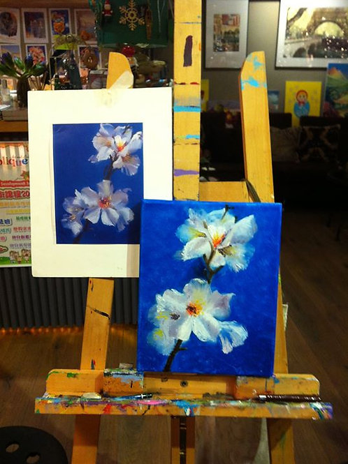 Oil Painting per class   FREE Time (自由時間)