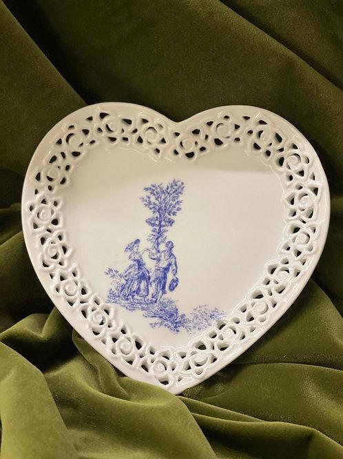 Porcelain Art Plate | 日本白瓷貼瓷器手工藝術碟