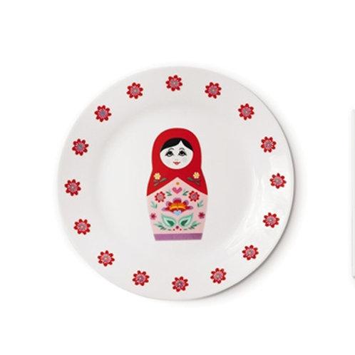 北歐生活雜貨 Russian Doll 陶瓷碟
