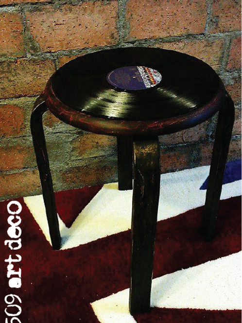 Vintage Disk Record Stool   FREE BOOKING