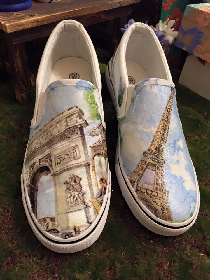 Decoupage Fabric Shoes