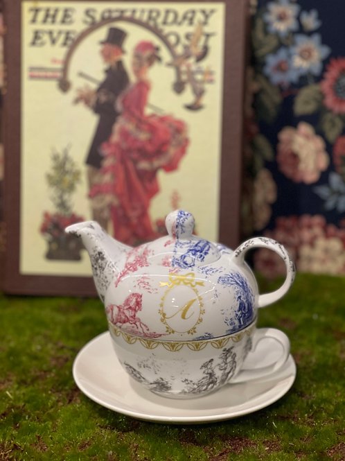 Porcelain Art 2 in 1 Afternoon Teapot set | 日本白瓷貼 2 in 1 下午茶壺套裝