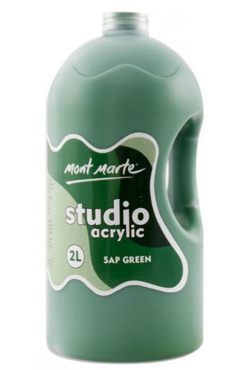 Mont Marte Acrylic Pump 2L - Sap Green