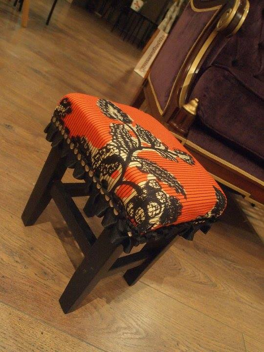 Antique Cushion Stool