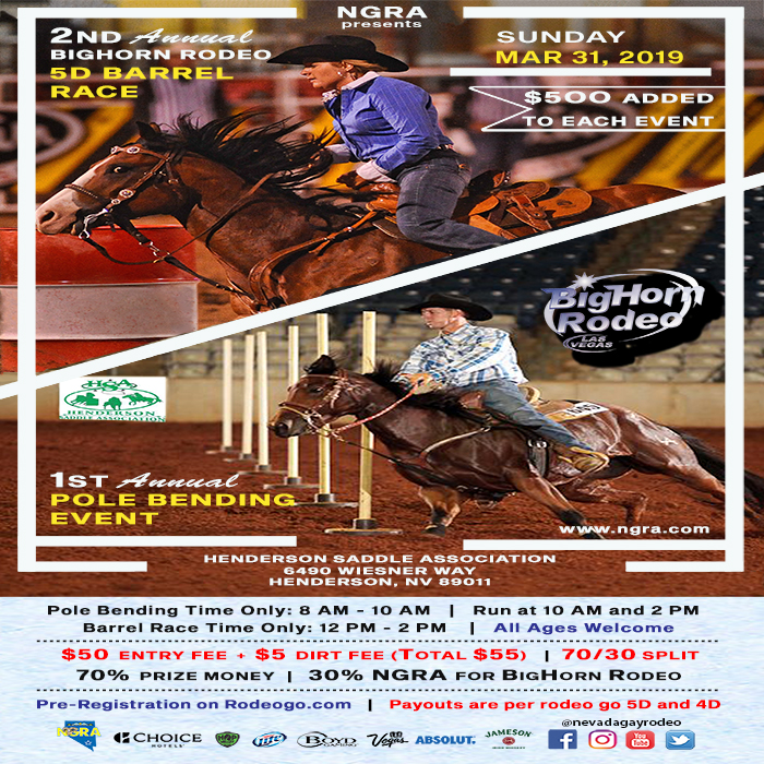 2nd Annual 5D Barrel Race & Inaugural Pole Bending Event