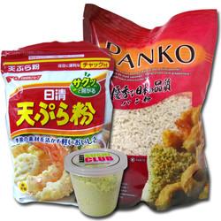 Tempura, wasabi y panko.