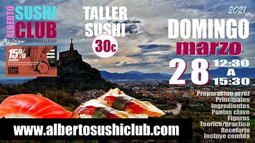 DOMINGO 28 Taller/comida sushi