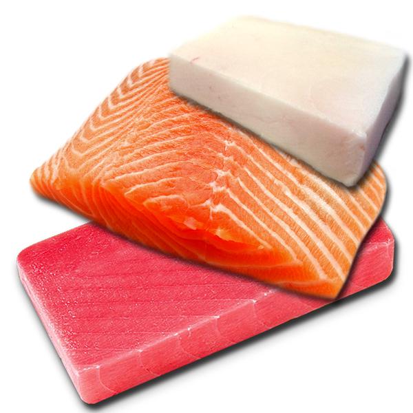 Pez mantequilla, Salmón y atún.