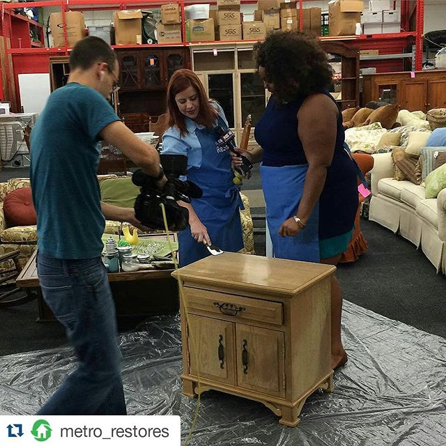 #Repost _metro_restores_・・・__baileysblast and _fox46charlotte are on location at the _ourtownsrestor