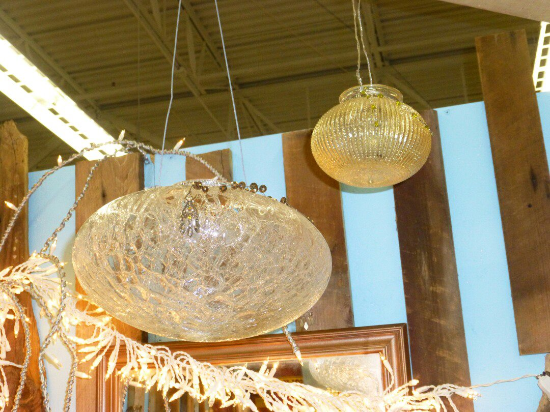 Light Fixture Globe Planters