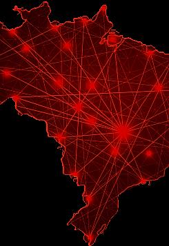Mapa do Brasil conectividade telecomunicações