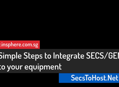 Adding SECS/GEM for your Equipment Software