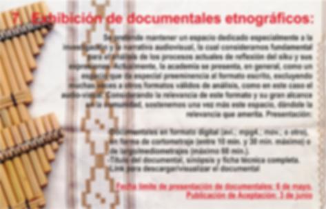 Nº 7 PROPUESTA DOCUMENTAL ETNOGRÁFICO