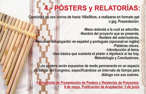 Nº 4 PROPUESTA POSTERS Y RELATORIAS
