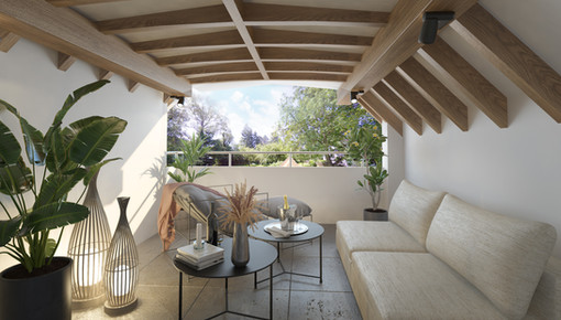 Interior balcony visualisation