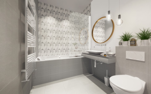Interior bathroom visualisation