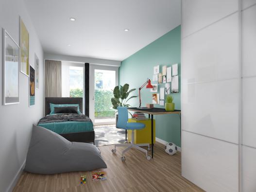 Interior bedroom visualisation