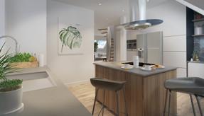 Interior kitchen visualisation