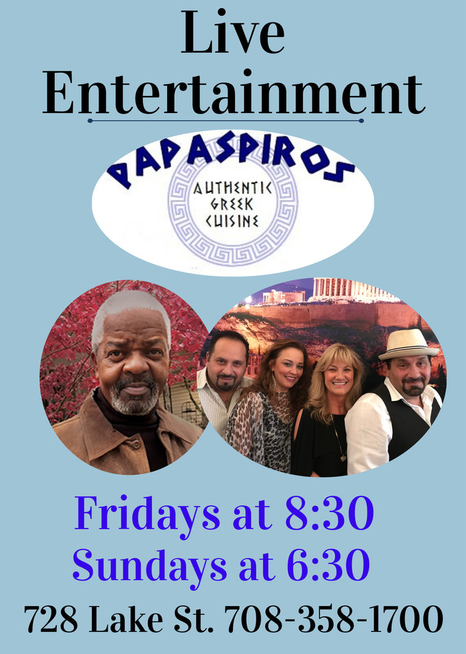 Every Friday and Sunday Enjoy Live Complimentary Entertainment from The Chicago Connection and Frien