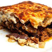 Meat Mousaka at Papaspiros Restaurant