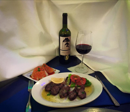 Enjoy a Lamb Chop Dinner This Evening at Papaspiros! Pairs with Kretikos Red Wine. Opa!