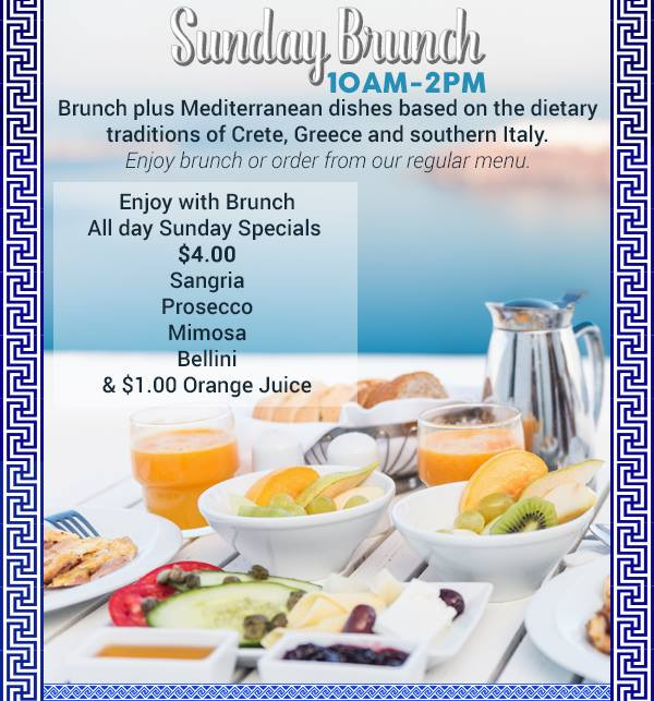Join Us For Brunch This Sunday From 10 am to 2 pm at Papaspiros Restaurant! Opa!
