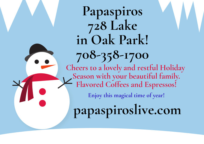 Flavored Espressos, and Coffee Liquors with Whipped Cream Available Now at Papaspiros 728 Lake St.