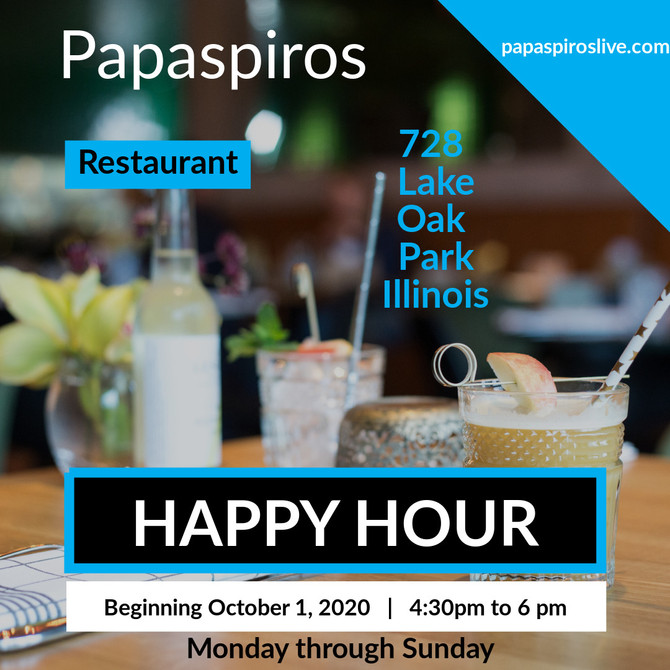 Join Us for a Wine Tasting Happy Hour from 4:30 pm to 6:00 pm at Papaspiros Restaurant Authentic Gre