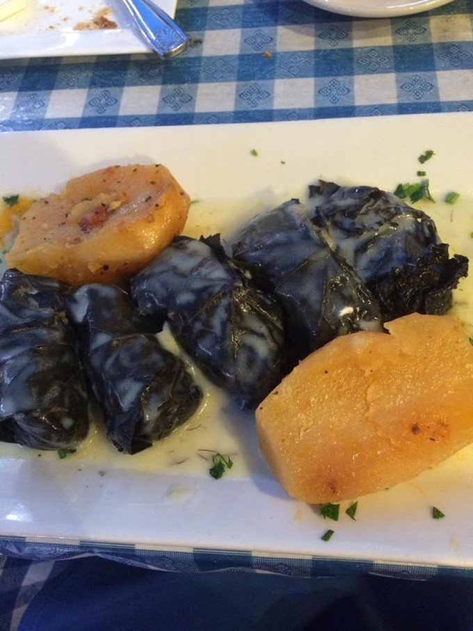 Enjoy a Dolmades Dinner With Lemon Sauce at Papaspiros Restaurant!