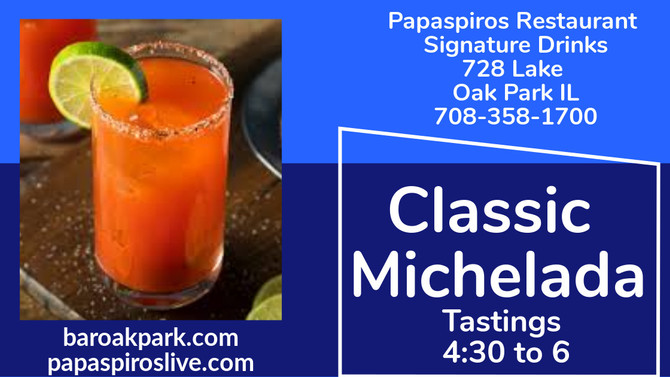 Try a Traditional Michelada and a Shrimp Selection from Papaspiros Greek Mediterranean Cuisine
