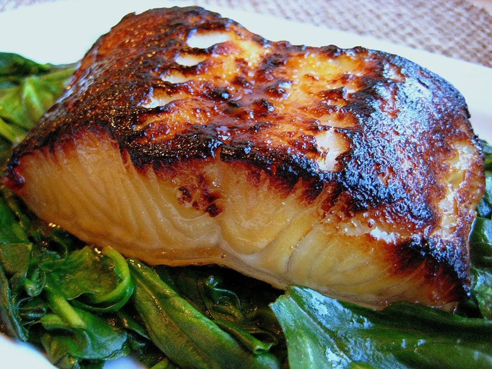 Salmon With Sauteed Spinach