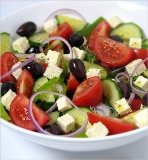 Spring Horiatiki Salad