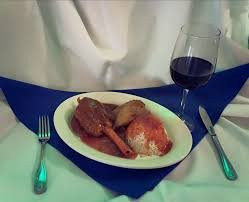 Enjoy an Aromatic Smooth Kretikos Red Wine With Your Kokonisto Leg of Lamb at Papaspiros Restaurant