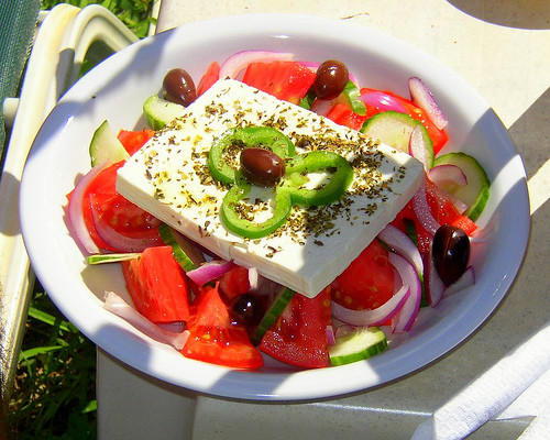 Horiatiki Greek Peasant Salad Papaspiros