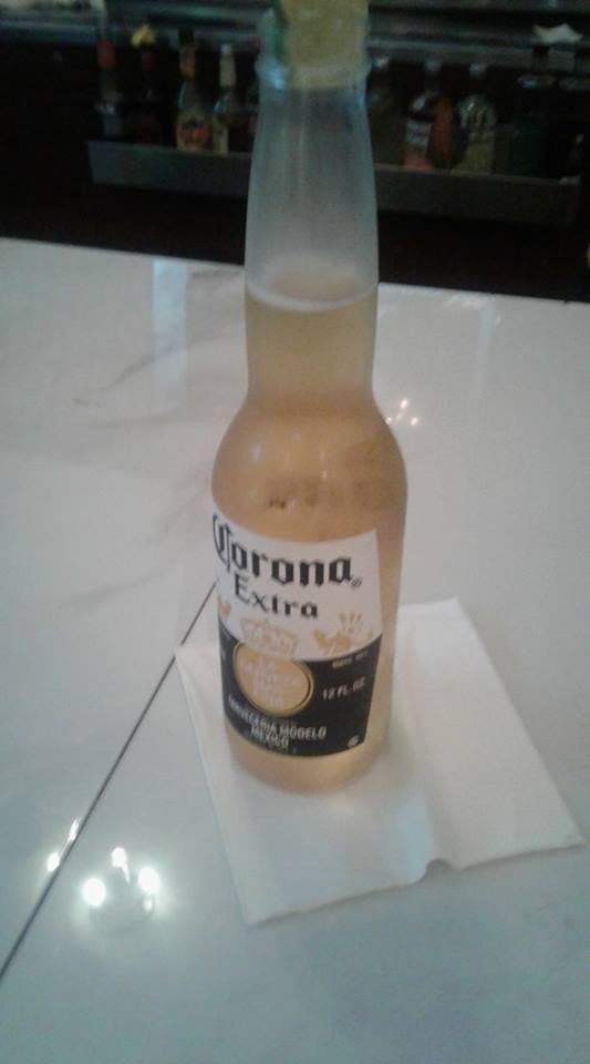 Corona With Line Papaspiros Restaurant