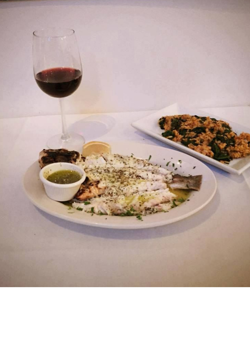 Seabass In Herb Dipping Sauce