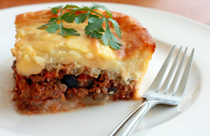 Try A Delicious Mousaka This Evening!