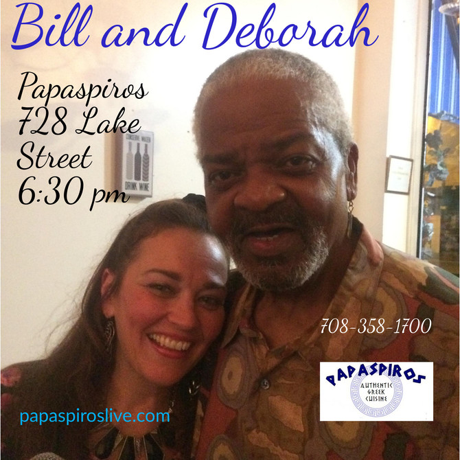 Join Us This Evening at 6:30 pm for the Music of The Chicago Connection with Bill Street and Deborah