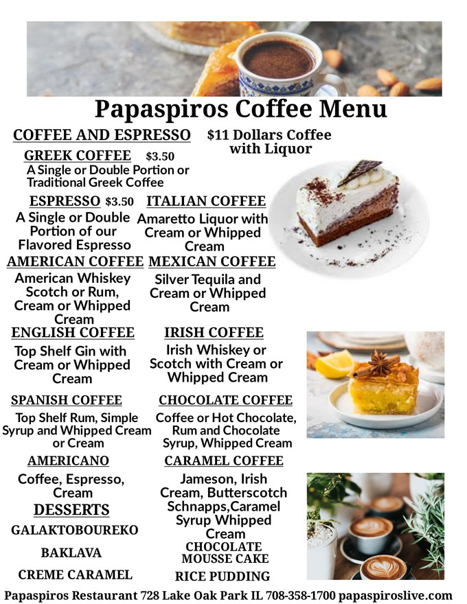 Enjoy a Signature Coffee with Apperatif from Around the World and Whipped Cream at Papaspiros Opa!