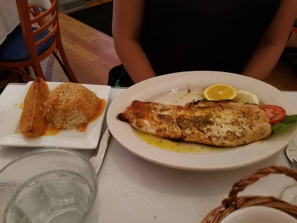 Whitefish Dinner Papaspiros Restaurant
