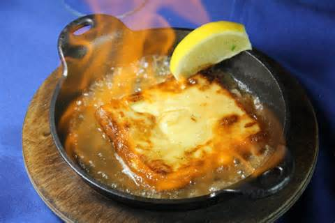 flaming saganaki