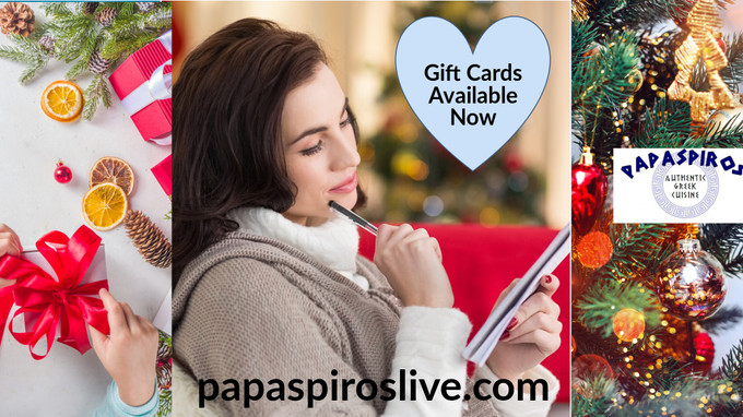 Looking for a Gift Idea? Consider a Gift Card from Papaspiros Restaurant 728 Lake Street Oak Park