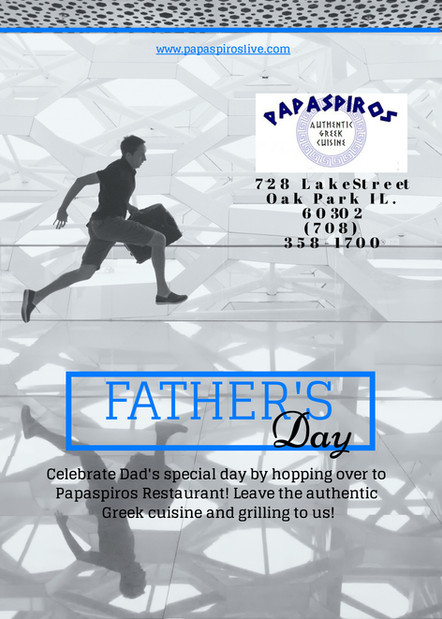 Join Us This Sunday For Father's Day and Leave The Grilling To Us!