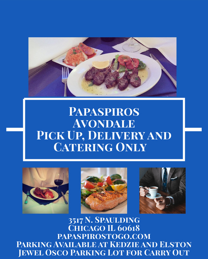 Papaspiros Restaurant Avondale Catering, Pick Up, Delivery and Special Events.