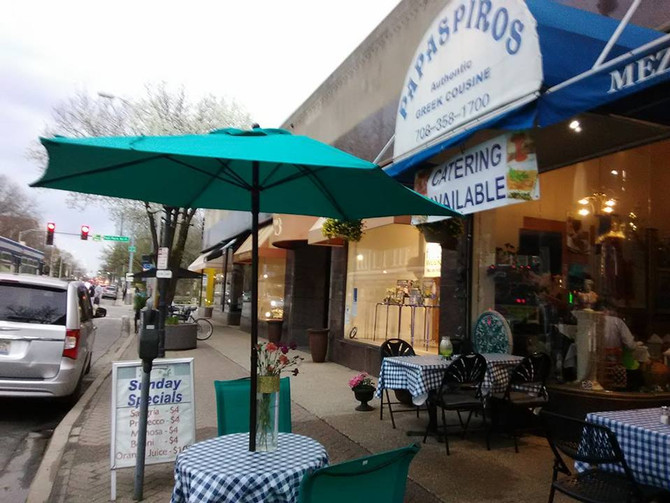 Enjoy a Gorgeous Friday Evening Out at Papaspiros! Outdoor Patio Open!