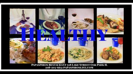 Enjoy Healthy Greek Mediterranean Cuisine from Papaspiros Restaurant 728 Lake 708-358-1700