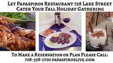 Cater Your Holiday Season with Papaspiros Restaurant Authentic Greek Mediterranean Cuisine! Opa!