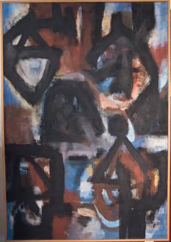 Pintura Negra 1991, 158 x108 cm