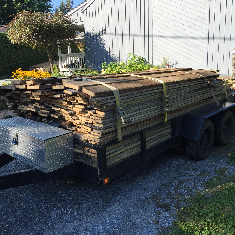Lot de bois de grange
