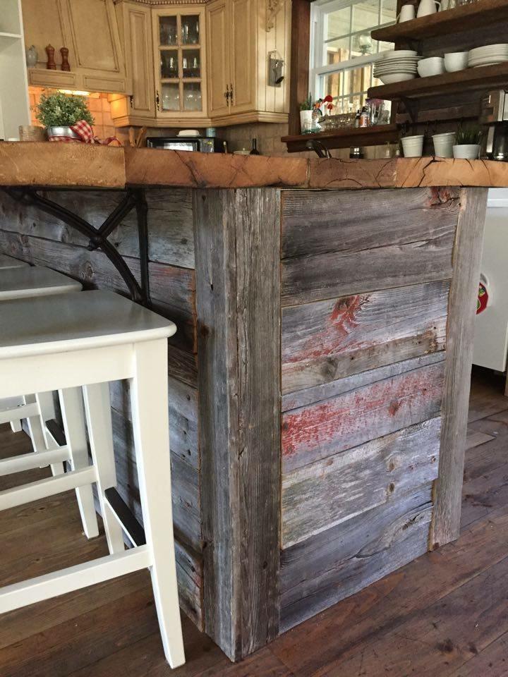 Illot sur mesure en bois de grange